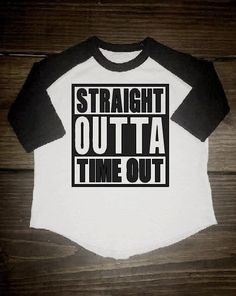 STRAIGHT OUTTA TIMEOUT toddler raglan toddler baseball tee shirt baby raglan baby baseball funny toddler boy shirt cute toddler shirt by on Etsy Toddler Boy Fashion, Toddler Outfits, Baby Boy Outfits, Kids Outfits, Kids Fashion, Fashion Images, Fashion Trends, Cute Toddlers, Cute Kids