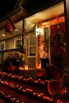 lights on the stairs is a great idea to make sure no one trips up or down the steps.  good for any party theme/night as long as they aren't up all year round!