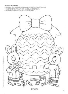 Vorschule Basteln – Rebel Without Applause Spring Coloring Pages, Easter Coloring Pages, Coloring Books, Easter Activities For Kids, Easter Crafts For Kids, Preschool Activities, April Easter, Kids Daycare, Quilling Patterns