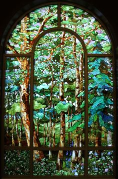Stained glass forest art stained glass FunSubstance - Funny pics, memes and trending stories Stained Glass Designs, Stained Glass Panels, Stained Glass Projects, Leaded Glass, Stained Glass Art, Modern Stained Glass, Art Nouveau, Mosaic Art, Mosaic Glass