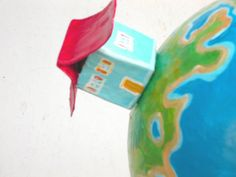 mobile papier mache mobile globe mobile room by whaleyoumarryme Three Little, Christmas Gifts For Kids, Marry Me, Baby Room, Globe, Room Decor, Invitations, Etsy Shop, Paper