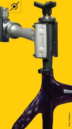 Este é o dispositivo para fixar quadros de carbono em suportes de manutenção sem danificá-los.