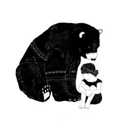 Shelter Canvas Print by amyhamilton Framed Art Prints, Fine Art Prints, Canvas Prints, Urso Bear, Black And White Wall Art, Bear Art, Animal Totems, Beautiful Artwork, Beautiful Things