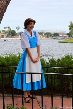 Day 13 Favorite outfit: couldn't decide between Elsa or Belles dress... So I put both
