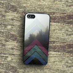 Dark Woods iPhone 5 Case Chevron iPhone 4 case Geometric iPhone5 case Shady Foggy Forest iPhone 5 Case Smoke Fog iPhone 4 case hipster Dew