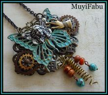 """""""Fairy Dust"""" Mixed Metal Steampunk Necklace"""
