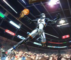 Sci-fi Art: MBA All-Star. Sci-fi Art by Kemp Remillard, United States.