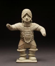 """Dancing Figure Whistle - Dance, among the most ephemeral of the arts, was central to Mesoamerican civilization. The Walters Art Museum in the special exhibition """"Exploring Art of the Ancient Americas: The John Bourne Collection Gift."""" http://art.thewalters.org/detail/80184/dancing-figure-whistle/"""