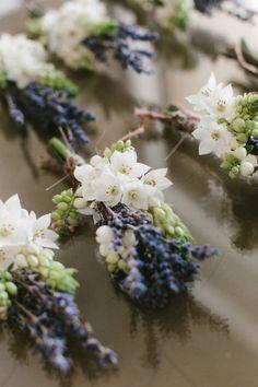 Lavender: #Lavender boutonnieres.