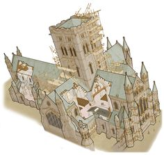 Cathedral Builders - Cutaway by hesir on DeviantArt