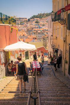 Calçada do Duque, Lisbon, Portugal Al Fresco Dining, Lisbon Portugal, Live Music, Distance, My Photos, Castle, Street View, Architecture, Twitter