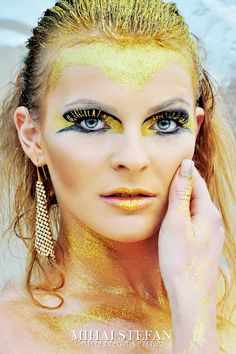 GOLD by Mihai Stefan Photography on 500px gold make-up: Malina Coc / Gold hairstyle: Sorina Muresan / Model: Andreea Panainte