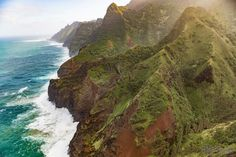 Did not get mauled by a bear or stung by a cactus to get this shot. Just another day on the Na Pali Coast in Kauai, Hawaii
