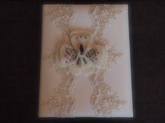 Wedding Memory Album Ivory Purple orchid flower choose your colors #weddingmemoryalbum by ArtisanFeltStudio on Etsy, $42.00