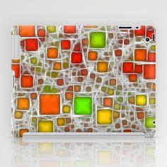 Ceramics Citrus iPad Case - $60.00  #ipadcase #ipadcover #tabletcase #ceramics #green #lime #yellow #orange #red #white #pattern #abstract