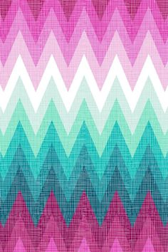 Blue and pink chevron iPhone wallpaper