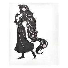Tangled Rapunzel Silhouette Vinyl Decal Disney