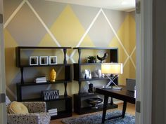 Argyle wall pattern...oh my!
