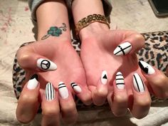 White and black! My beautiful nails