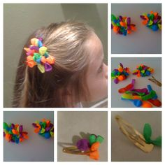 BALLOONS FOR THE HAIR. BARRETTES