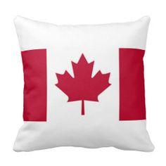 Canadian Maple Leaf Flag Throw Pillow