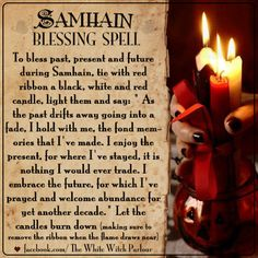 SAMHAIN, halloween, book of shadows, blessing, spell, past, present, future, wicca, magick, witch, october, witches new year, enchanted, energy, white witch, hocus pocus, autumn, pumpkin, potions, candle, manifest, prayer, changer, meditation, ritual. www.whitewitchparlour.com