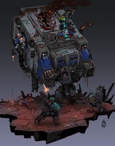 Warhammer 40k Memes, Warhammer Art, Warhammer 40k Miniatures, Warhammer Fantasy, Warhammer 40000, Night Lords, The Horus Heresy, Spaceship Art, Knight Art