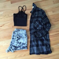 """Mossimua Tie Dyed High Rise Shorts 100% cotton black and gray tied dyed shorts with frayed hem.  From last summer.  In almost new condition.  Waist is 27 hips 36 and inseam 2"""". Mossimo Supply Co Shorts Jean Shorts"""