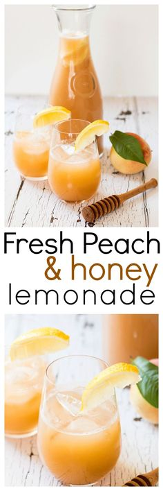 Take advantage of the seasons perfectly fresh peaches and blend up a batch of this delicious and refreshing Fresh Peach and Honey Lemonade. Only four ingredients, and all of them are clean via @wholefoodbellies