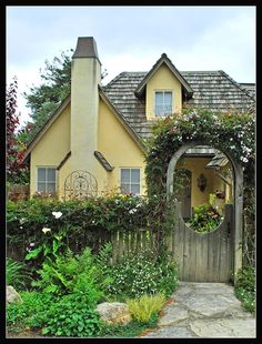 One of numerous fairy tale houses in the charming town of Carmel, California.  This one was very close to our bed & breakfast.