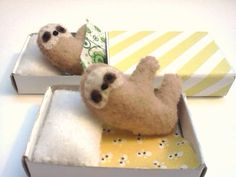 And these matchbox sloths because sloths that's why.