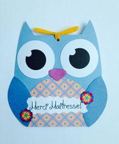 Carte merci super atsem cartes par creerpourvous atsem pinterest - Remerciement maitresse d ecole cp ...
