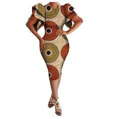 African Women Dress Short Sexy Style for Women Dashiki Print Lotus Leaf Sleeve Short African Dresses, African Print Dresses, African Fashion Dresses, African Clothes, African Prints, African Fashion Designers, African Print Fashion, Africa Fashion, African Attire