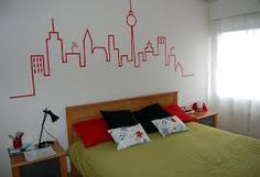 how to decorate a large wall Diy Room Decor For Teens, Teen Room Decor, Kids Decor, Diy Wall Decor, Diy Home Decor, Bookshelves In Bedroom, Small Space Bedroom, Diy Wall Painting, Teak