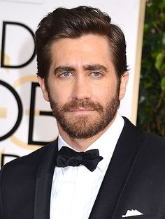 The Best Beards at the Golden Globes | JAKE GYLLENHAAL | We're giving Jake the award for Best Overall Grooming – from his hair to his brows to his beard.