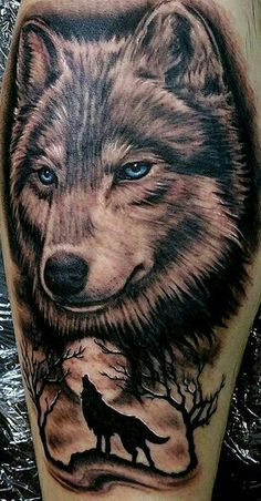 Wolf Tattoos - Have a look at the recent tattoo designs Wolf Tattoo Forearm, Wolf Tattoo Back, Small Wolf Tattoo, Wolf Tattoo Sleeve, Lion Tattoo, Sleeve Tattoos, Tattoo Wolf, Wolf Tattoos Men, Skull Tattoos