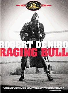 Raging Bull [PN 1997 .R34 2005] An emotionally self-destructive boxer's journey through life, as the violence and temper that leads him to the top in the ring, destroys his life outside it. Director:Martin Scorsese Writers:Jake LaMotta (based on the book by), Joseph Carter (with),Stars:Robert De Niro, Cathy Moriarty, Joe Pesci