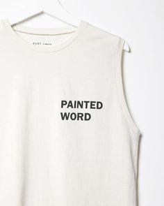 6397 | Painted Word Tank | La Garçonne