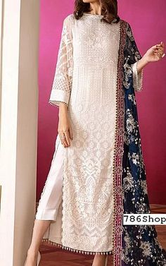 White Colour Georgette Fabric Party Wear Semi Stitched Pakistani Suit Comes With Matching Bottom and Dupatta. This Suit Is Crafted With Embroidery and Print. This Suit Comes As a Semi Stitched Which C. Dress Style Pakistani, Pakistani Party Wear Dresses, Simple Pakistani Dresses, Pakistani Fashion Casual, Designer Party Wear Dresses, Indian Fashion Dresses, Kurti Designs Party Wear, Dress Indian Style, Indian Designer Outfits