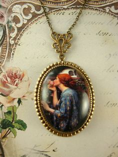Soul of a Rose art pendant necklace by Ophelia's Adornments