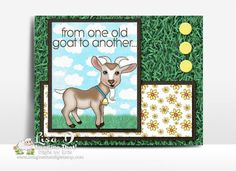 "New ""Goats"" digi set released at Imagine That Digistamp Digi Stamps, Goats, Giveaway, Birthday Cards, Paper Crafts, Clip Art, Kids Rugs, Create, Projects"