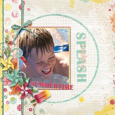 Suddenly, Summer Collection, Summertime, Layouts, Scrap, Baseball Cards, Store, Gallery, Girls