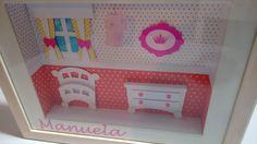 Quadro de Maternidade Menina - Feito de papel usando a Silhouette Cameo - by Jéssy