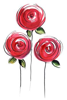 Abstract Painted Floral Background Different Shades Stock Illustration 14288596 - Abstract painted floral background in different shades of rose and red with romantically pink roses - Watercolor And Ink, Watercolor Flowers, Watercolor Paintings, Rose Paintings, Abstract Flowers, Watercolors, Fabric Painting, Painting & Drawing, Painting Abstract