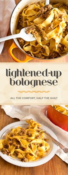This bolognese might be low in calories, but it certainly doesn't sacrifice the flavor.