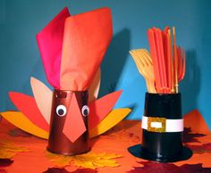 Thanksgiving Crafts from Recycled Yogurt Cups