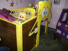 diy spongebob square bed more ava room squares beds spongebob room ...