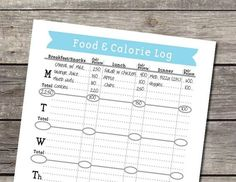 Items similar to Weekly Food and Calorie Log/Journal - PDF on Etsy List Of Bullet Journal Pages, Bullet Journal Layout, Bullet Journal Inspiration, Journal Ideas, Bullet Journals, Filofax, Calorie Tracker, Food Log, Mug Rug Patterns