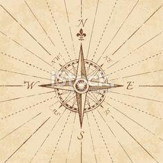 Antique Grunge Compass Rose Royalty Free Stock Vector Art Illustration