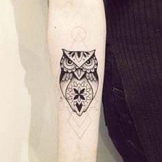#hibou #tattoo #violette #bleunoir #bleunoirtattoo
